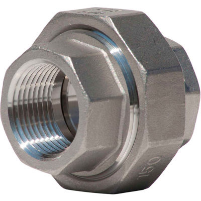 3/4 In. 304 Stainless Steel Union - FNPT - Class 150 - 300 PSI - Import