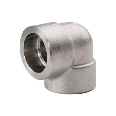 """Ss 304/304l Forged Pipe Fitting 1/2"""" 90 Degree Elbow Socket Weld - Pkg Qty 12"""