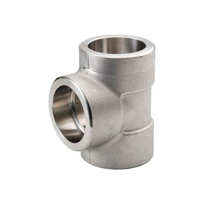 "Ss 304/304l Forged Pipe Fitting 1-1/4"" Tee Socket Weld - Pkg Qty 3"