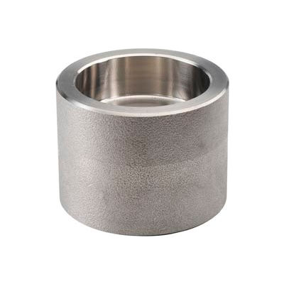 """Ss 304/304l Forged Pipe Fitting 1-1/2 X 1/4"""" Reducing Coupling Socket Weld - Pkg Qty 5"""