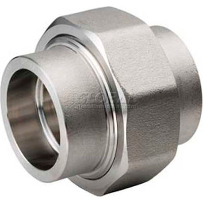 """Ss 304/304l Forged Pipe Fitting 3/8"""" Union Socket Weld - Pkg Qty 5"""