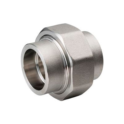 """Ss 304/304l Forged Pipe Fitting 2"""" Union Socket Weld - Pkg Qty 2"""