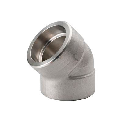 """Ss 316/316l Forged Pipe Fitting 3/8"""" 45 Degree Elbow Socket Weld - Pkg Qty 6"""