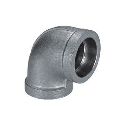 """Mss Ss 316 Cast Pipe Fitting 90 Degree Elbow 1/2"""" Socket Weld  - Pkg Qty 25"""