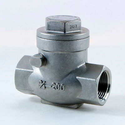 3/8 In. 316 Stainless Steel Swing Check Valve - 200 PSI - Pkg Qty 80