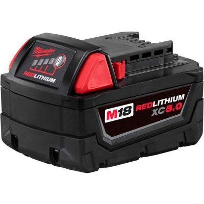 Milwaukee® 48-11-1850 18V Li-ion capacité M18 5Ah étendu des piles
