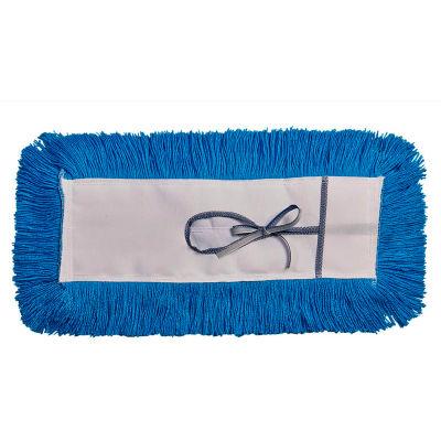"Static-H Tie-On Dust Mop - 5"" x 36"" - Blue"