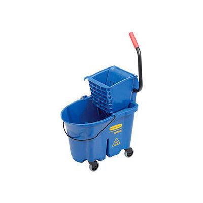 Rubbermaid® 7588-88 WaveBrake® côté presse Mop seau & essoreuse Combo, bleu