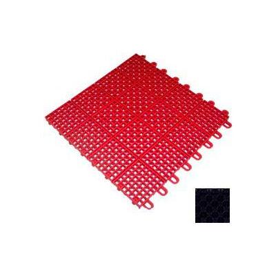 "Mateflex II Outdoor Tennis Tile 350062, 12""L X 12""W, Black"