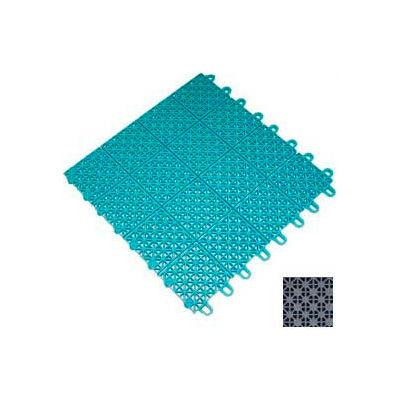 """Mateflex III Outdoor Swimming Pool Decking Tile 351315, 12""""L X 12""""W, Silver Metallic"""