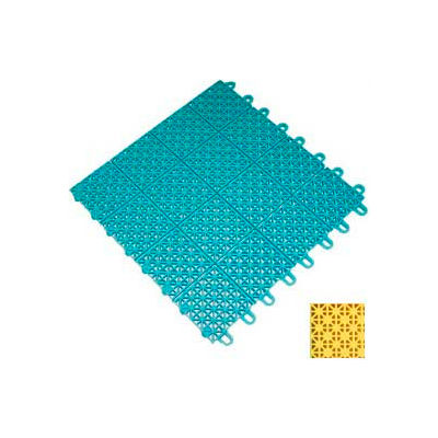 "Mateflex III Outdoor Swimming Pool Decking Tile 351363, 12""L X 12""W, Yellow"