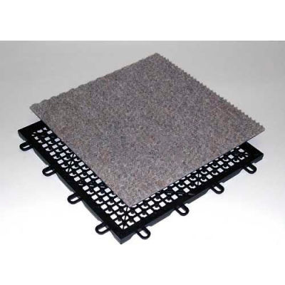 """Mateflex CarpetFlex Indoor Tile 371052, 12-1/8""""L X 12-1/8""""W, Charcoal"""