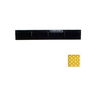 "Mateflex HomeCourt Edge Male Connecting Piece 450163, 12""L X 1-3/4""W, Yellow"