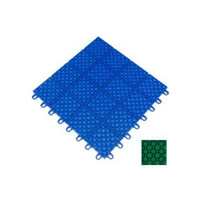 "Mateflex HomeCourt Multi-Sport Outdoor Tile 451312, 12""L X 12""W, Bright Green"