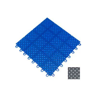 "Mateflex HomeCourt Multi-Sport Outdoor Tile 451350, 12""L X 12""W, Stone Gray"