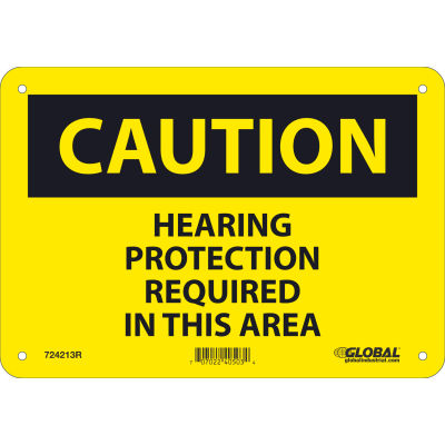 Global Industrial™ Caution Do Not Enter, 7x10, Pressure Sensitive Vinyl