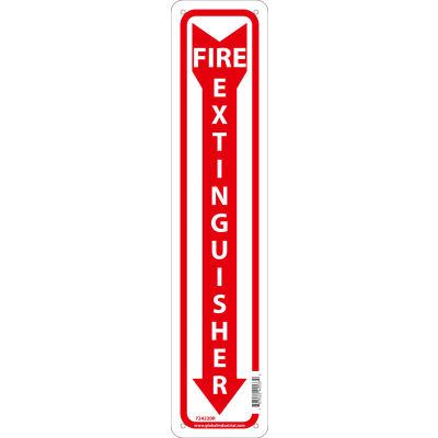 Global Industrial™ Fire Extinguisher Sign, 18x4, Rigid Plastic