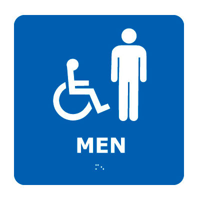 Graphic Braille Sign - Men - Blue