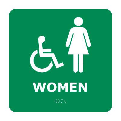 Graphic Braille Sign - Women - Gray