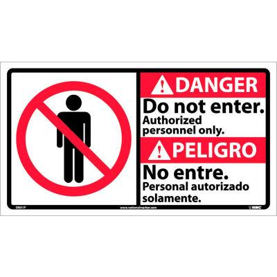 Bilingual Vinyl Sign - Danger Do Not Enter Authorized Personnel Only