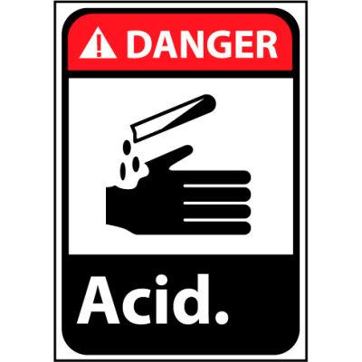 Danger Sign 14x10 Rigid Plastic - Acid