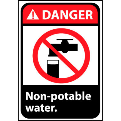 Danger Sign 14x10 Rigid Plastic - Non-Potable Water