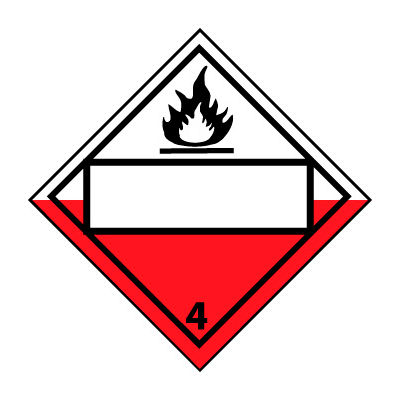 DOT Placard - Combustible 4