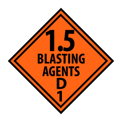 DOT Placard - Blasting Agent D1