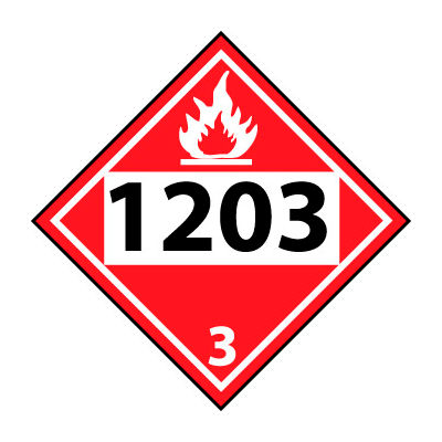 DOT Placard - Four Digit 1203