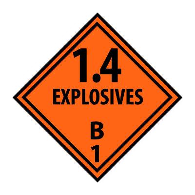 DOT Placard - Explosives B1