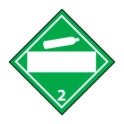 DOT Placard - Non Flammable Gas 2 Blank