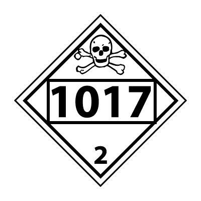 DOT Placard - Four Digit 1017