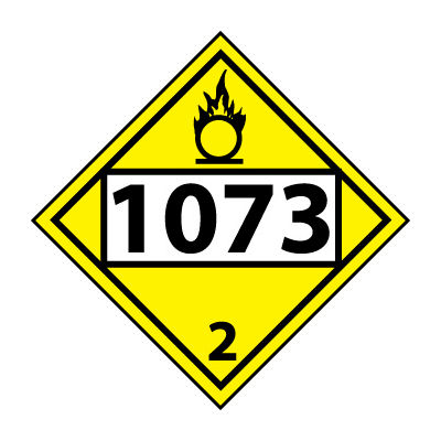 DOT Placard - Four Digit 1073 3