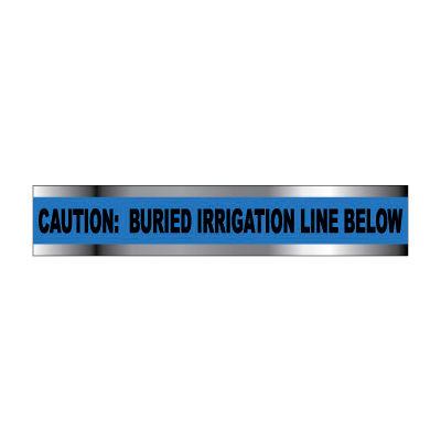 "Detectable Underground Warning Tape - Caution Buried Irrigation Line Below - 2""W"