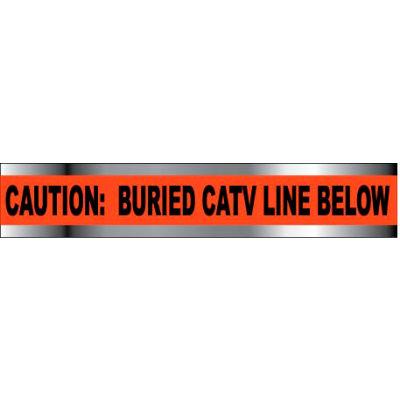 "Detectable Underground Warning Tape - Caution Buried CATV Line Below - 6""W"