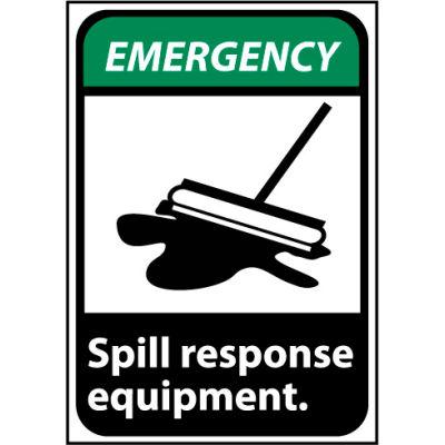 Emergency Sign 14x10 Vinyl - Spill Response Equipment