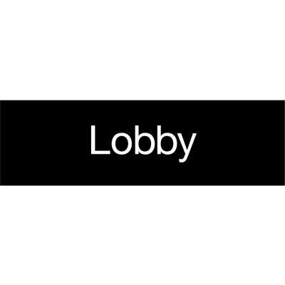Engraved Sign - Lobby - Black