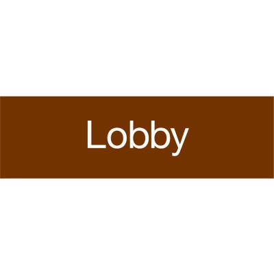 Engraved Sign - Lobby - Brown