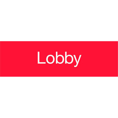 Engraved Sign - Lobby - Red