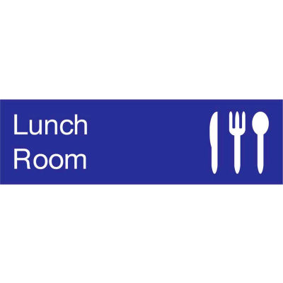 Engraved Sign - Lunch Room - Blue