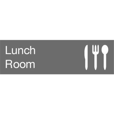 Engraved Sign - Lunch Room - Gray