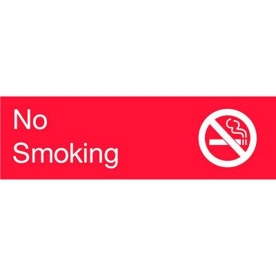 Engraved Sign - No Smoking - Red