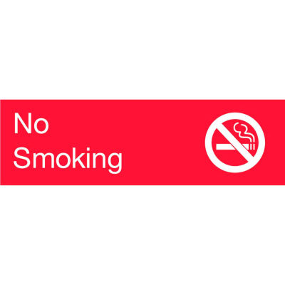 Engraved Sign - No Smoking - Red