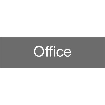 Engraved Sign - Office - Gray