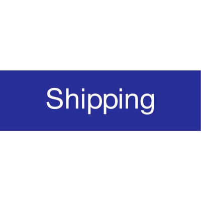 Engraved Sign - Shipping - Blue