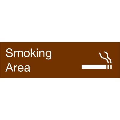 Engraved Sign - Smoking Area - Brown
