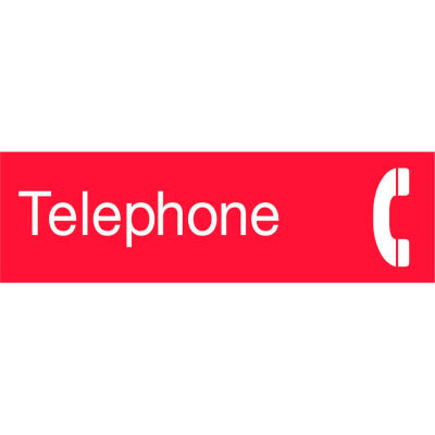 Engraved Sign - Telephone - Red