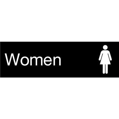 Engraved Sign - Women - Black