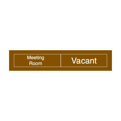 Engraved Occupancy Sign - Meeting Room In Use Vacant - Black