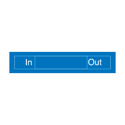 Engraved Occupancy Sign - In Out - Red